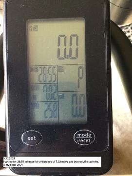WORKOUT - Stationery Bike STATS (5.23.2021)