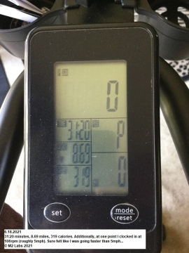 WORKOUT - Stationery Bike STATS (6.18.2021)